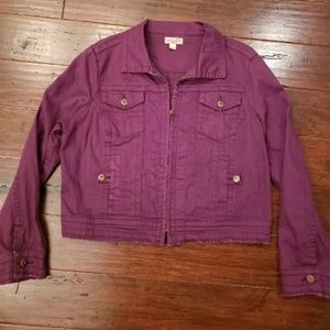 One World Denim Jean Jacket XL Purple
